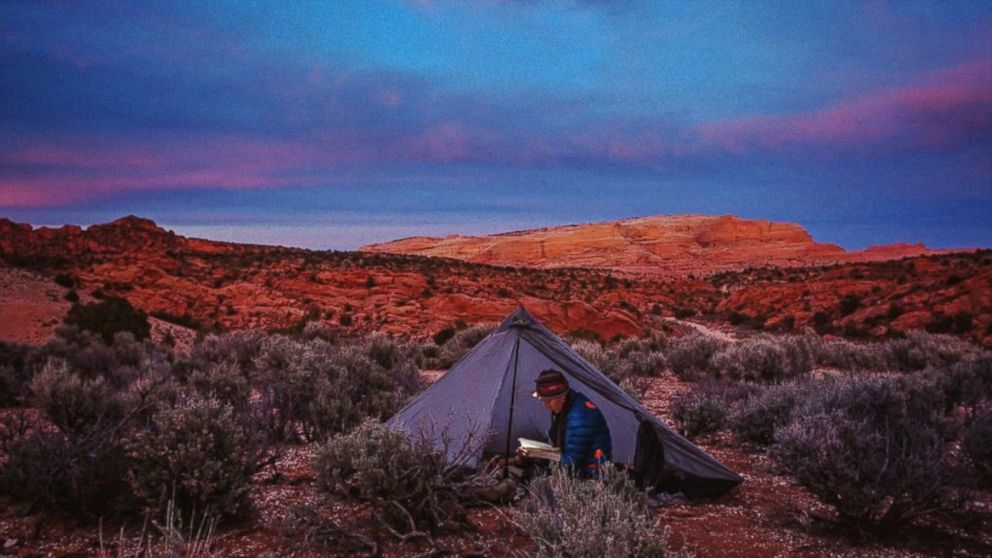 """PHOTO: Patagonia, which tells the story of Kristin Gates, a long-distance hiker who chooses to patch up her winter jacket, is among several brands declining to participate in the """"Gray Thursday"""" and Black Friday frenzy."""