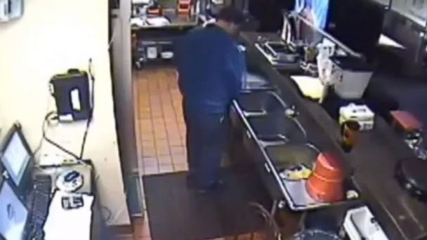 PHOTO: An employee was caught on tape urinating in the kitchen of a West Virginia Pizza Hut.