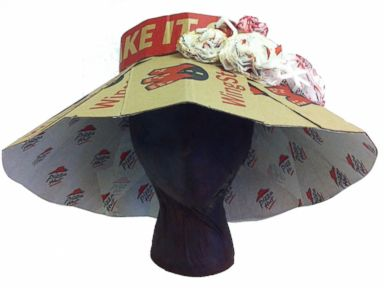 Pizza Hut Boxes Make Fabulous Kentucky Derby Hats