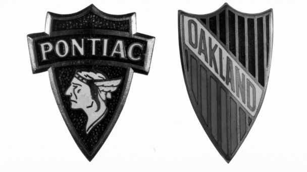 "PHOTO: Pontiac's arrowhead logo replaced the ""Indian Head"" design in 1958."