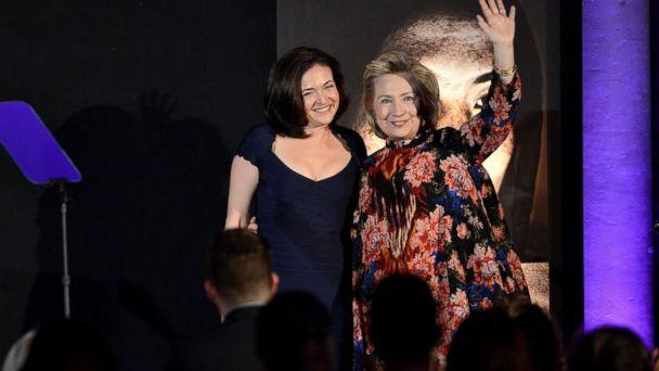 HT sandberg hillary clinton jef 131204 16x9 608 Hillary Clinton, Sheryl Sandberg on Why Empowering Women Boosts Families, Economy
