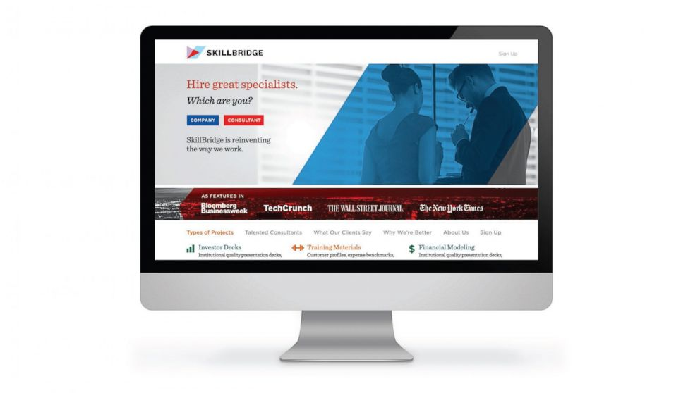 PHOTO: SkillBridge.co is one service that matches current or newly graduated MBA students with clients seeking business advice or help.