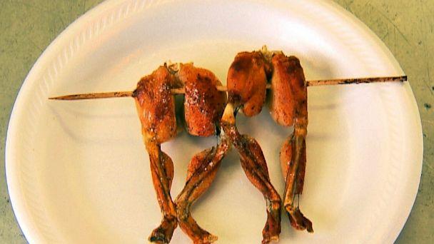 HT state fair food porn frog legs jef 130821 16x9 608 Wacky State Fair Foods: Calorie Cheat Sheet