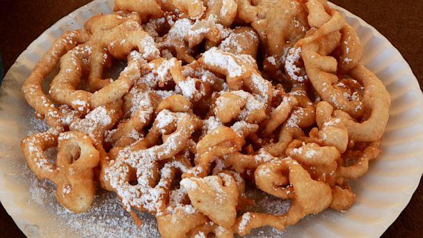 HT state fair food porn funnel cake jef 130821 16x9 608 Wacky State Fair Foods: Calorie Cheat Sheet