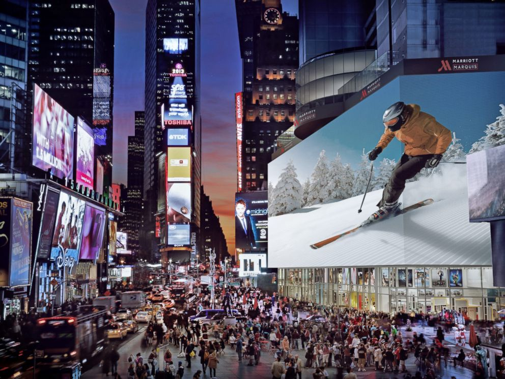 PHOTO: A rendering of the digital billboard, which has the highest contrast LED screen in the U.S.