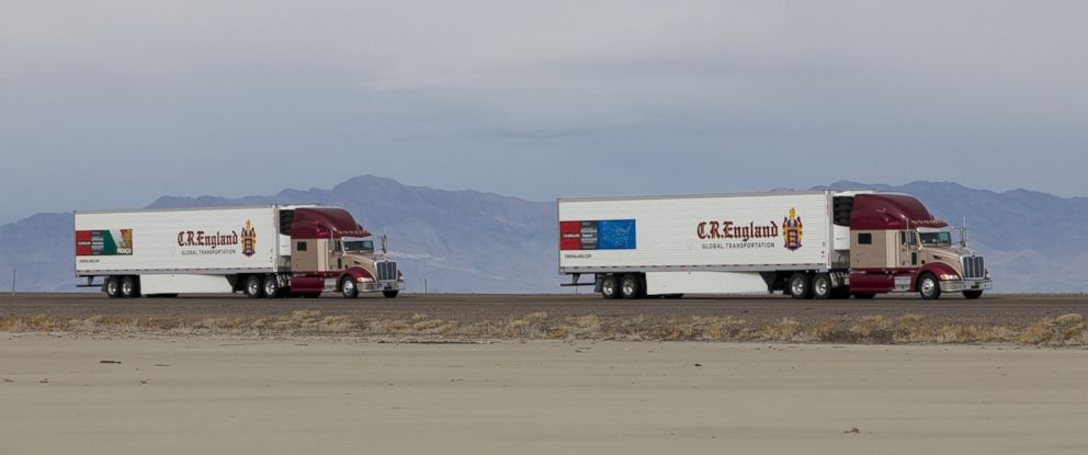 PHOTO: Peloton has devolved a new technology that increases fuel efficiency for tractor-trailer trucks.