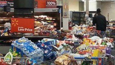 PHOTO: Shelves in the Walmart store in Springhill, LA