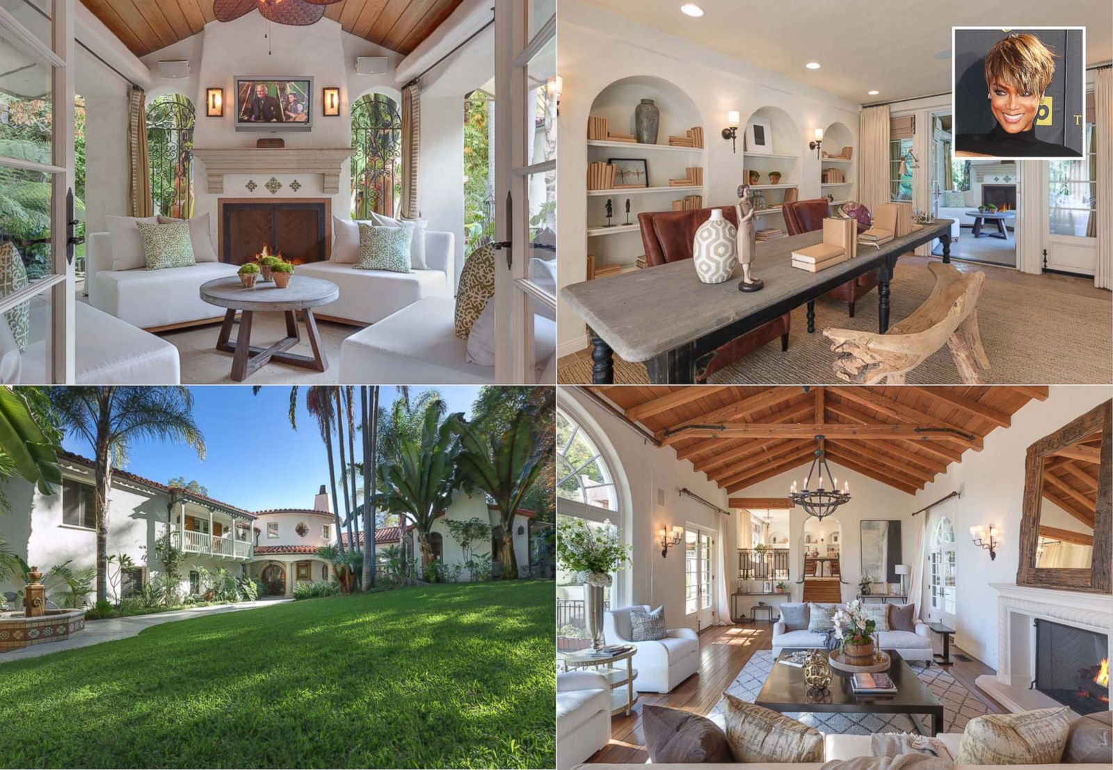 Tyra Banks Lists Beverly Hills Mansion Picture In Photos