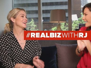 Watch:  Christina Applegate Gets Candid on Real Biz with Rebecca Jarvis