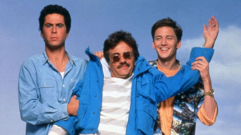 "PHOTO: In this publicity still for ""Weekend at Bernies,"" actors Jonathan Silverman, Terry Kiser and Andrew McCarthy, left to right, are pictured in 1989."