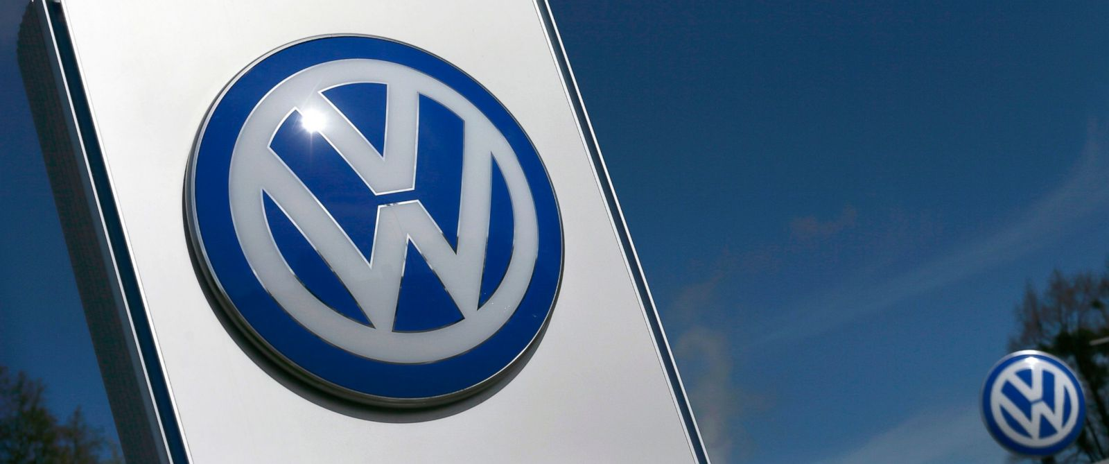 PHOTO: A Volkswagen logo is pictured at Volkswagens headquarters in Wolfsburg, Germany, April 22, 2016.