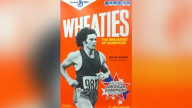 PHOTO: Bruce Jenner is seen on the front cover of Wheaties cereal box in this undated file photo. Jenner won Gold in the decathlon at the 1976 Olympic Games in Montreal.