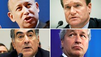 PHOTO Clockwise from top left: Lloyd C. Blankfein, Brian Moynihan, James Dimon, and John Mack are shown in these file photos.
