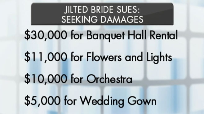 VIDEO: Woman sues fleeing groom for $95,000 in damages.