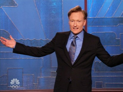 VIDEO: Conan OBrien keeps jokes flying at the expense of NBC executives.