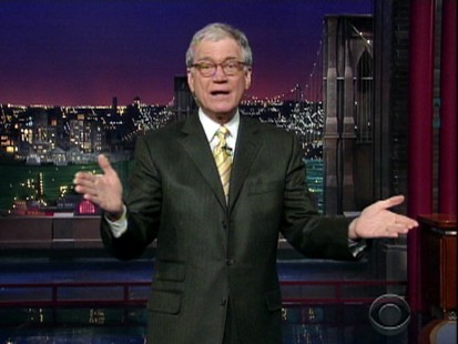 VIDEO: David Letterman delivers stinging jokes, along with Jay Leno and Conan OBrien.