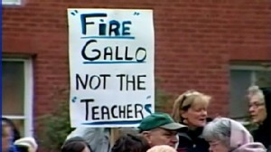 VIDEO; A failing Rhode Island high school has voted to lay off all 88 of its teachers.