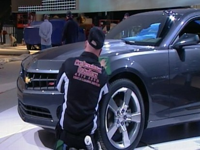 Video: Automakers prepare for the Detroit auto show.