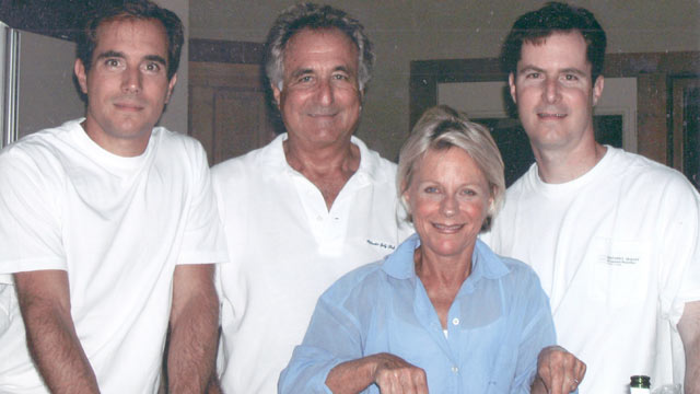 PHOTO: Mark, Bernie Andy and Ruth Madoff, seen in this undated file photo.