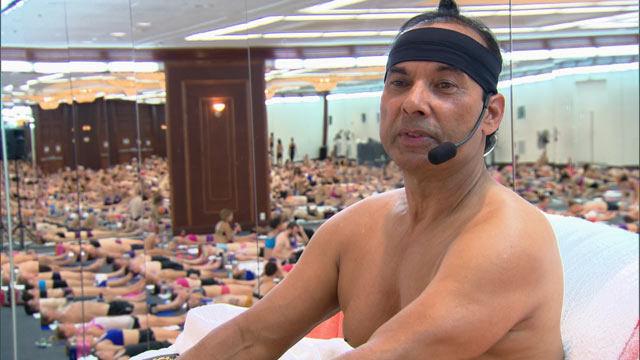 PHOTO: Bikram Choudhury developed Bikrams Beginning Yoga Class, which requires participants to perform 26 poses over the course of 90 minutes in a room heated to 105 degrees
