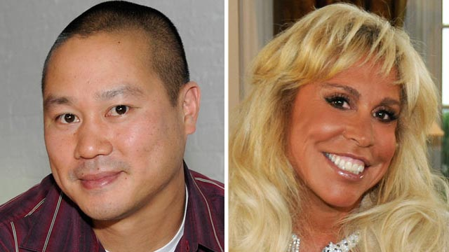 PHOTO: Barbara Walters interviews Tony Hsieh, left, for her special on Billionaires, along with Lynn Tilton, right, and others, airing on the ABC Television Network.