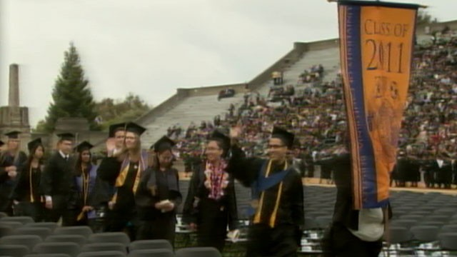 PHOTO:&nbsp;This year's crop of new college graduates are left to face the sobering reality of a poor job market, lower salaries, and an average debt of $24,000.