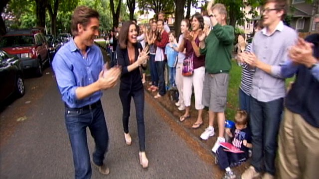 PHOTO: ABC News' David Muir and Sharyn Alfonsi headed to Seattle neighborhood in