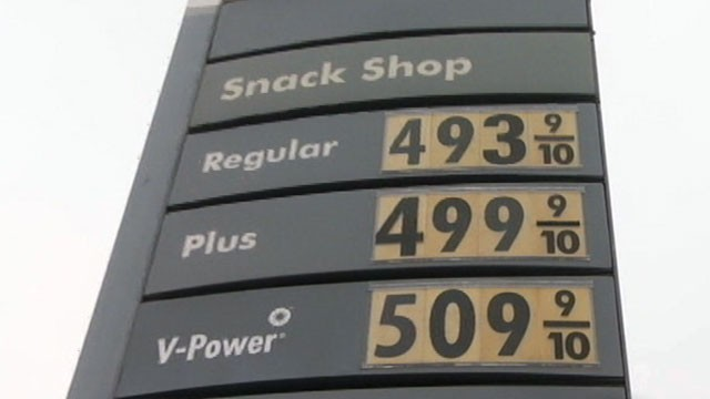 PHOTO: In a Los Angeles gas station, gas prices are more than $5.00 per gallon for premium gas.
