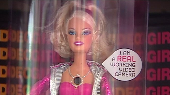 VIDEO :FBI warns that Video Girl Barbie could be used to create child pornography.