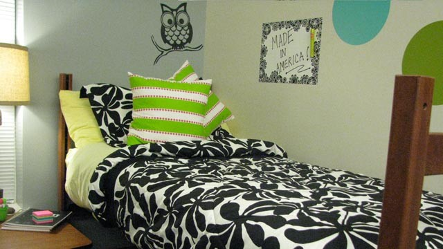 "PHOTO: Monica Resendiz's ""Made in America"" dorm room."