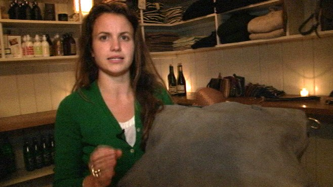 VIDEO: How eatery turns discarded animal hides into high fashion.