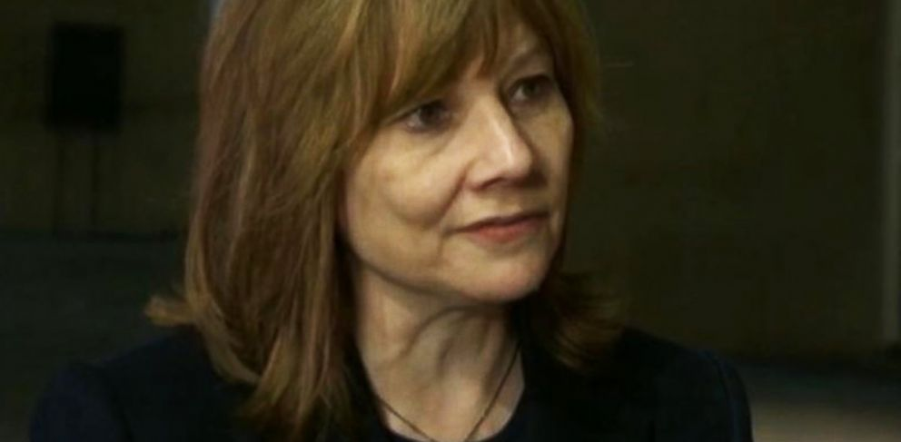 PHOTO: Mary Barra made her first public appearance at the Detroit Auto Show since being named CEO of General Motors.