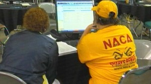 VIDEO: NACA offers foreclosure assistance at Cleveland event.