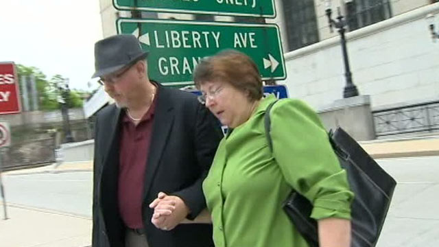 PHOTO: Patricia Smith pleaded guilty to a wire fraud charge, May 9, 2012 in Pittsburgh, PA.