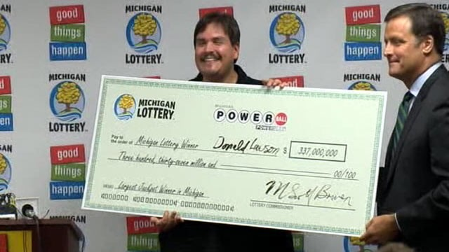 PHOTO: Donald Lawson, 44, of Lapeer, Mich., came forward on Aug. 30, 2012 to claim his $337 million Powerball win.