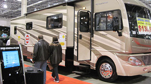 Attendance at this years Detroit RV Show is up 15 percent over last year. Industry insiders are encouraged by the enthusiasm after a big slump last year.