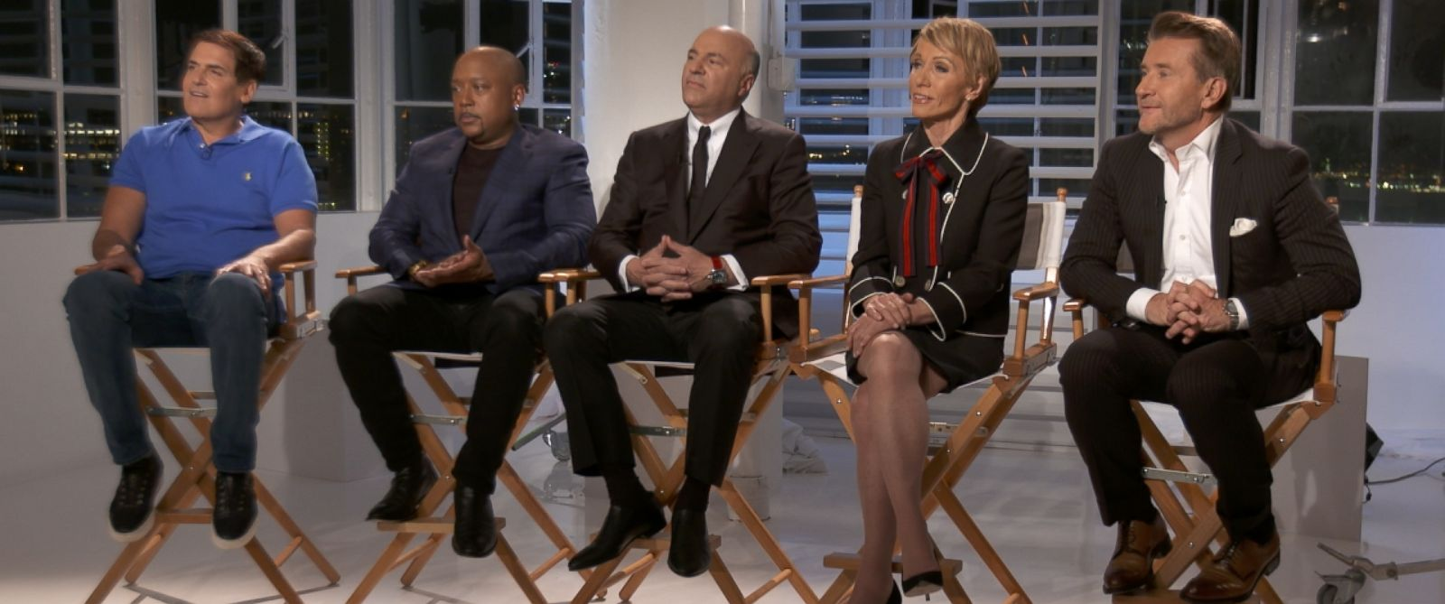 """The sharks of ABCs """"Shark Tank"""" appear during an interview for ABC News """"20/20."""""""