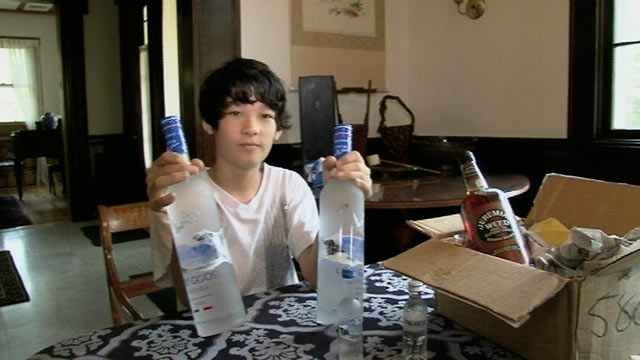 "PHOTO: Xander, 13, showed ""20/20"" how easy it is to buy alcohol online."