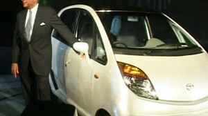 VIDEO: An Indian automaker unveils the worlds cheapest car, the Tata Nano.