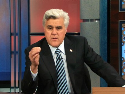 VIDEO: Jay Leno drops the jokes in discussing NBCs programming decisions.