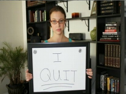 VIDEO: Web site claims a woman named Jenny quit her job by using a dry erase board.