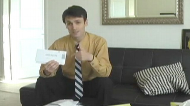 VIDEO: YouTube user urges people to send back bank envelopes to start a conversation.