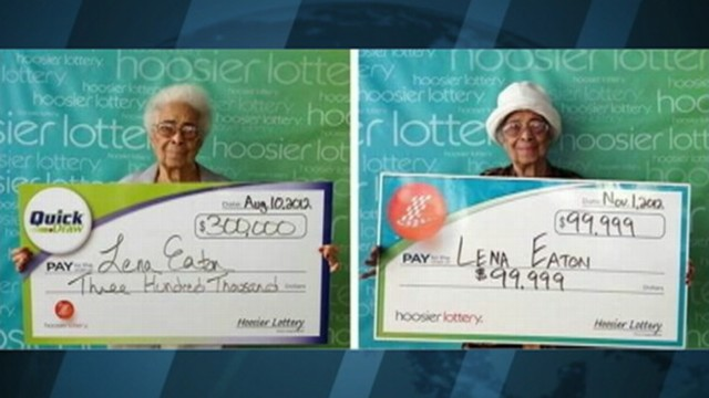 VIDEO: Indiana resident Lena Eaton has won $399,000 in two prizes.