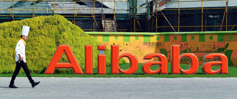 PHOTO: In this Aug. 27, 2014 photo, a chef walks in the headquarter campus of Alibaba Group in Hangzhou in eastern Chinas Zhejiang province.