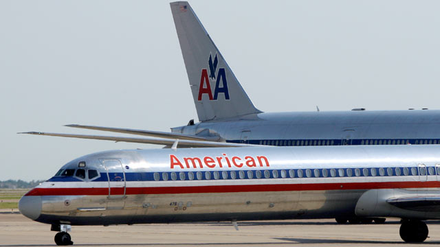 PHOTO: The parent companies of American Airlines and its regional affiliate American Eagle are filing for Ch. 11 bankruptcy protection on Nov. 29, 2011.