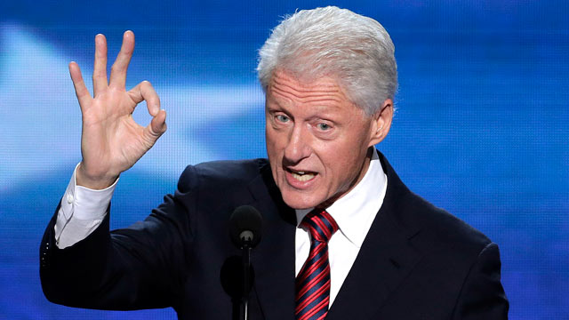 PHOTO: Former President Bill Clinton addresses the Democratic National Convention in Charlotte, N.C., Sept. 5, 2012.