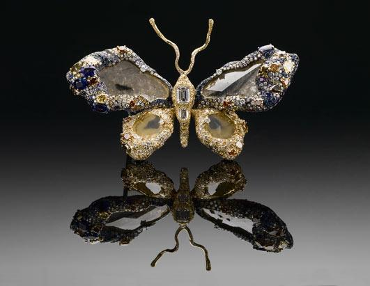 77 Carat Butterfly Brooch