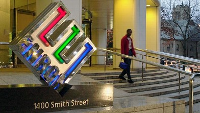 PHOTO: Enron headquarters