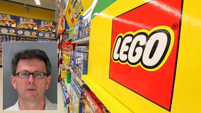 PHOTO: Silicon Valley executive Thomas Lagenbach, inset, has been accused of changing the barcodes on Legos to