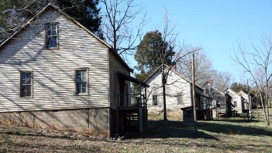 PHOTO: The abandoned Henry River Mill Village in Hildebran, N.C., where scenes from &quot;The Hunger Games&quot; were shot is shown.